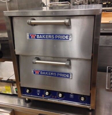 Bakers Pride P-44s Double Stone Deck Pizza Pretzel Oven Countertop Electric