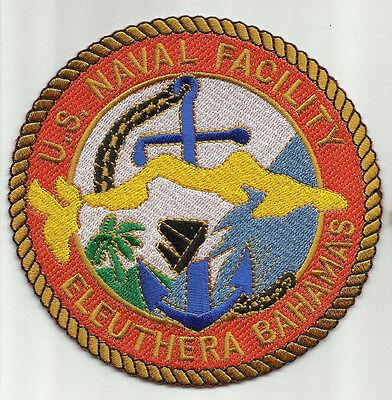 United States NAVAL FACILITY ELEUTHERA BAHAMAS MILITARY PATCH NAF