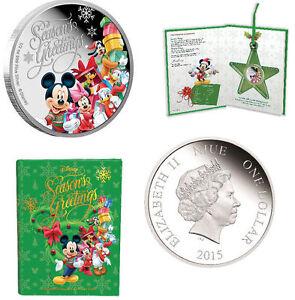 Disney Niue $1 Dollar 1/2 oz Silver Proof Coin 2014 Season's Greetings Christmas - Ogrodzieniec, Polska - Disney Niue $1 Dollar 1/2 oz Silver Proof Coin 2014 Season's Greetings Christmas - Ogrodzieniec, Polska