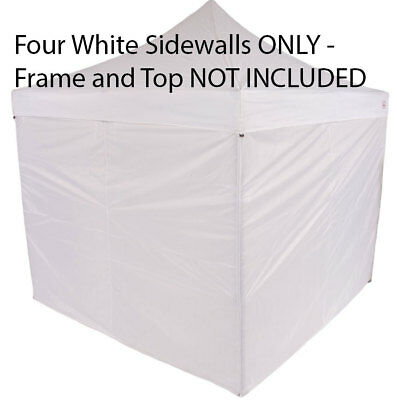 10x10 Zipper Side Walls Enclosure Panels Wall Kit For EZ Pop Up Canopy Tent 210D