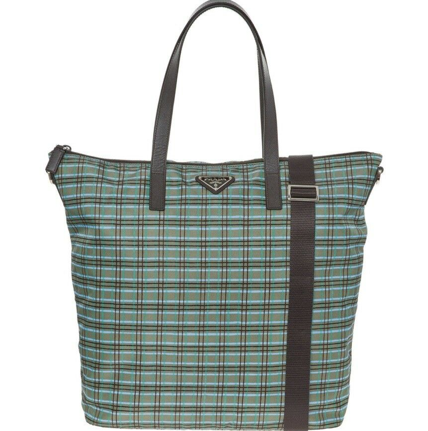 NEW - PRADA Green Check Tote Bag with tags - RRP £700.00  d27d44b1ae5bf