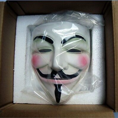 new Cosplay Halloween Guy Fawkes V FOR Vendetta Anonymous mask Resin Adult - Halloween Guy