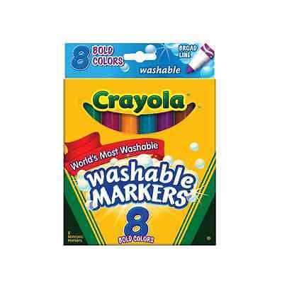 Crayola Washable Bold Broad Line Markers 8 ea