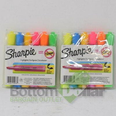 Sharpie Accent Chisel Tip Assorted Tank Highlighters 25076 2 Packs