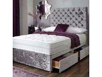 New Crushed Velvet Divan Bed Delivered Tuesday 24th April