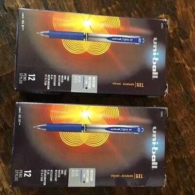 Lot Of 24 Uni-ball Signo Rt Gel Pens .7mm Blue