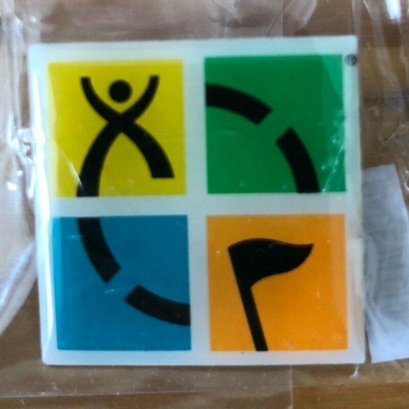 Geocaching Logo Lapel Pin, Hat Pin, Souvenir from Groundspeak Four Color