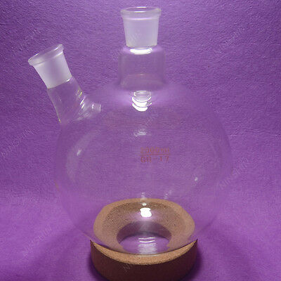 2000ml 2 Neck Round Bottom Boiling Flask2429 Jointglass Flasklab Glassware