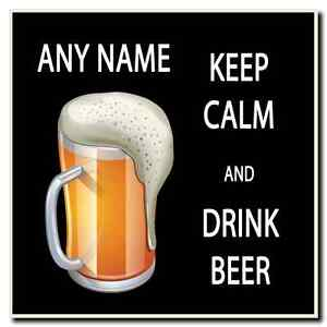 Keep Calm And Drink Beer Personalised Drinks Mat Coaster