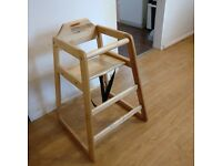 Wooden Baby Highchair MCC Natural Stackable