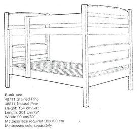 Hamble & Kirsten Pine Bunk Bed