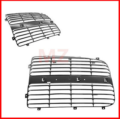 04 Chrome Plastic Grille Grill - For 02-05 Dodge Ram 2 Pieces  Chrome Plastic grille grill Trim Insert