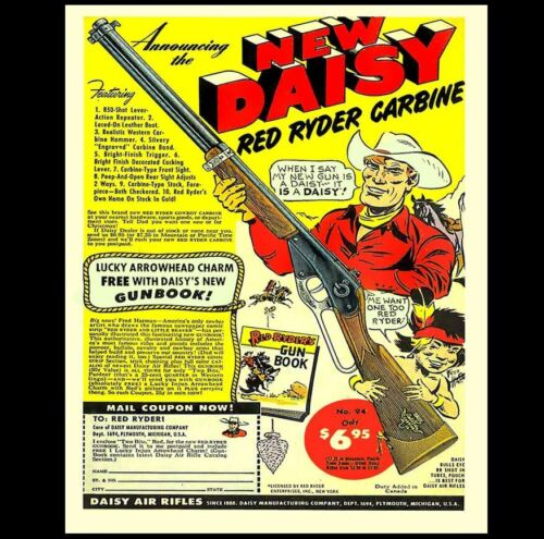 8x10 Red Ryder BB Gun Ad PHOTO Poster Daisy 1950s Magazine Advertisement Reprint