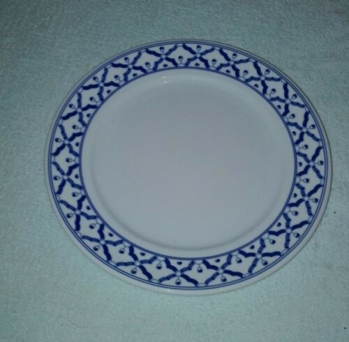Hand+painted+blue%2Fwhite+oriental%2FThailand+ceramic+china+-+8%22+dinner+plate