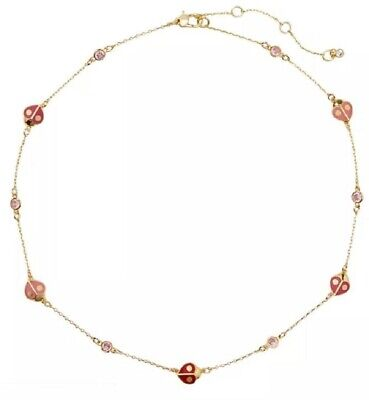 KATE SPADE Animal Party Ladybug Collar Necklace