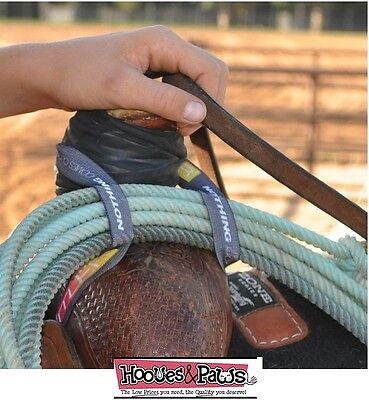 RATTLER Ropes Elastic Western Horse Tack Lariat Rope Holder Strap New Ships Free