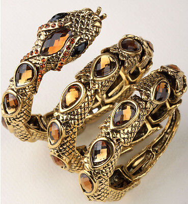Stretch snake bangle bracelet armlet upper arm cuff jewelry gift for women - Arm Cuffs