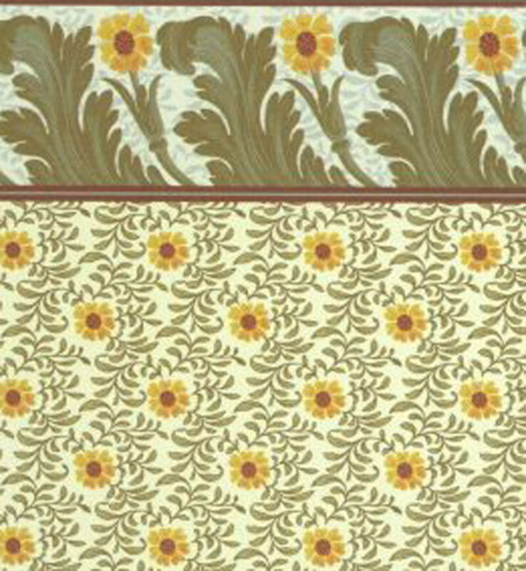Dollhouse Wallpaper Arts and Crafts Sunflower