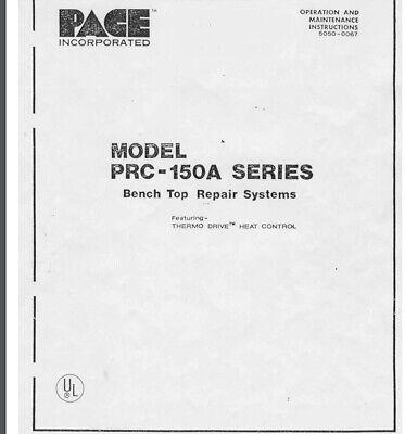 Pace Inc. Manual Solder Desolder Work Station Prc-150a Pps-100a Digital Format