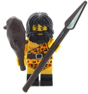 NEW LEGO CAVEMAN MINIFIG with spear & club minifigure figure cave man (Club Caveman)