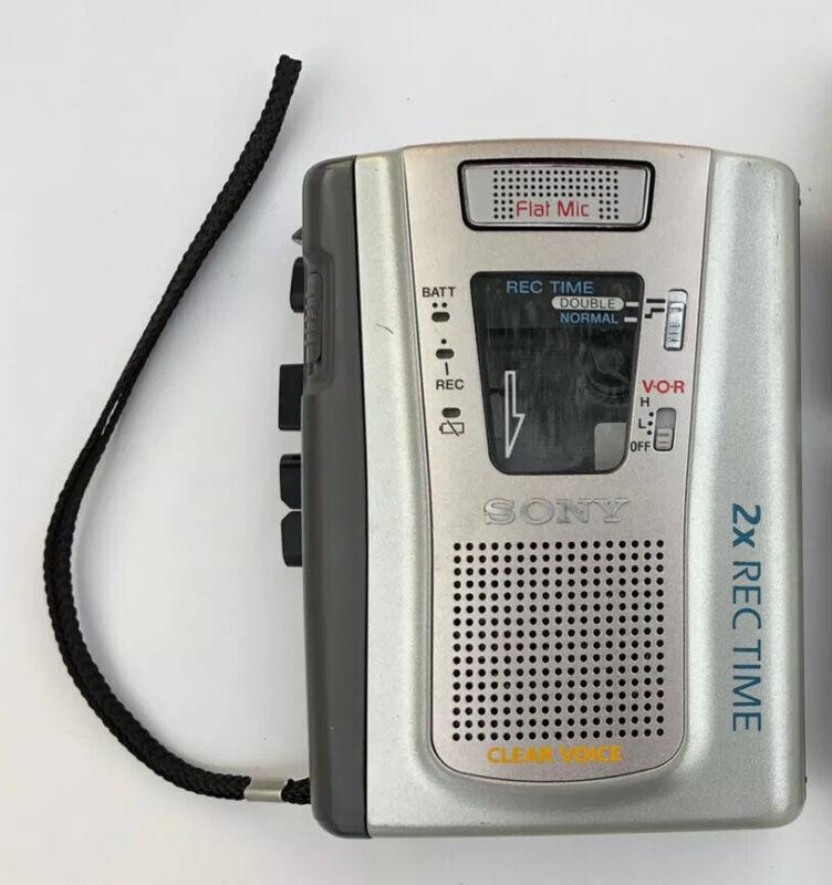 Tested Sony TCM-40DV VOR Handheld Cassette Recorder Tape Voice Recorder