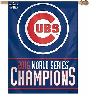 Chicago Cubs 2016 World Series Champions Vertical Flag 27