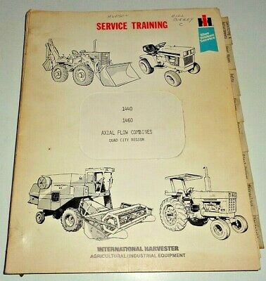 Ih International 1440 1460 Combine Service Training Manual Gss-5045 Ihc Original