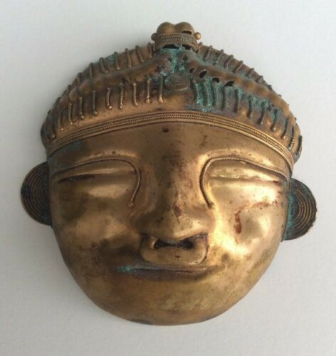 Pre-Columbian Style Tumbaga Tairona Face