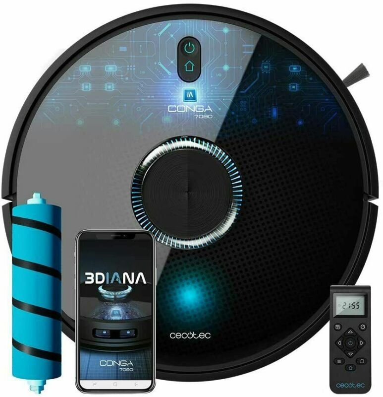 CECOTEC CONGA 7090 IA ROBOT VACUUM CLEANER AND FLOOR CLEANER COLOR BLACK