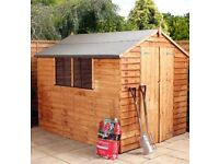 Wooden Shed 8x6 with timber base