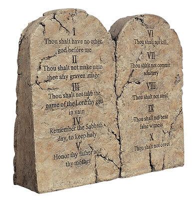 Ten Commandments Tablets Moses Sculpture Replica Reproduction (Ten Commandments Tablets)