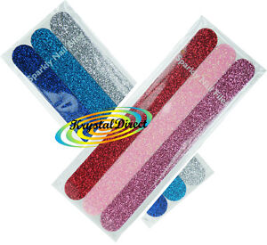 3-Sparkly-Foam-Nail-Files-18cm-Long-Art-Emery-Board-Buffing-Rear-Black