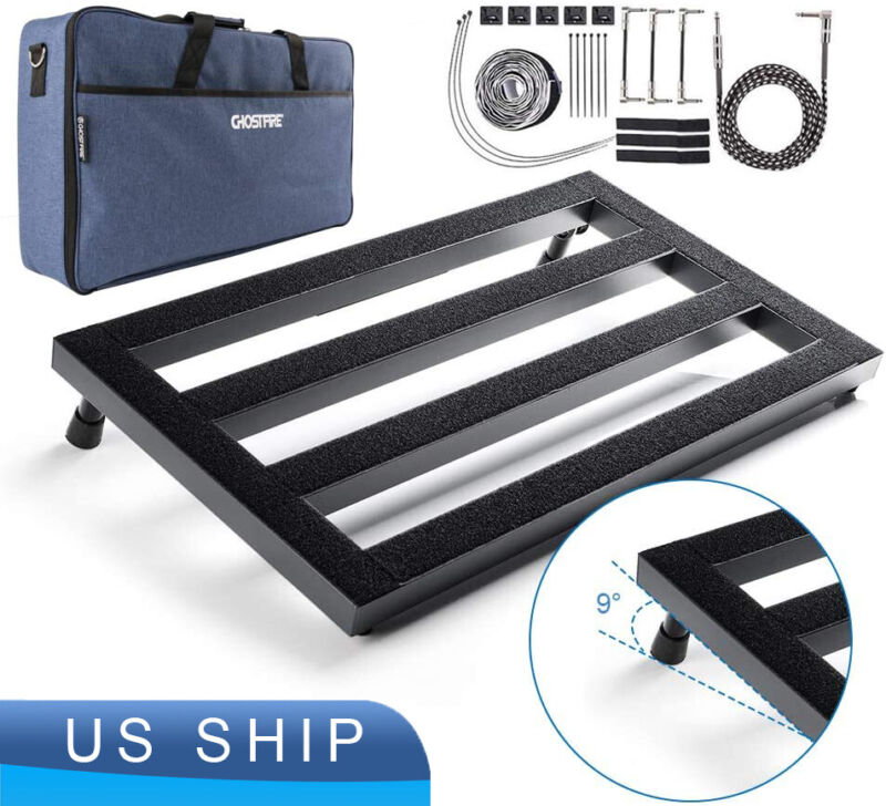 """22.2"""" x 12.78"""" x 2.75"""" Guitar Pedal Board Large, Effect Pedalboard for Guitar"""