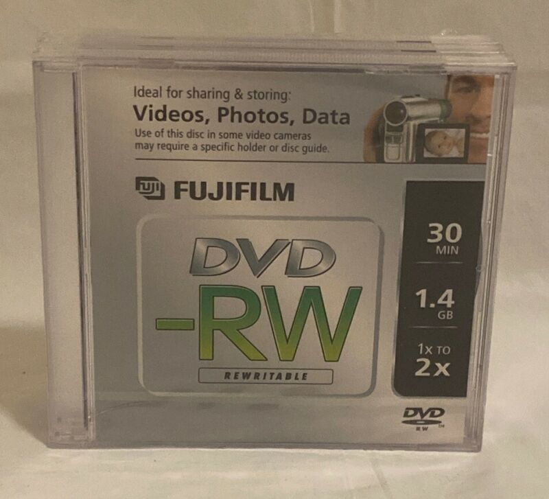 FujiFilm Mini DVD-RW 3-Pack 30 mins 1.4GB 1x 2x Brand New.