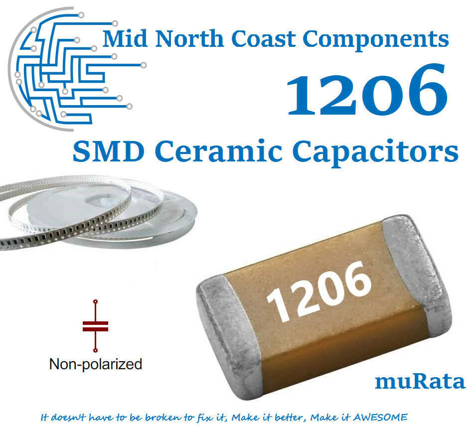 100 x 220pF 0.22nF 5/% 50V 0805 NP0 SMD Ceramic Capacitors//Ceramic Capacitors