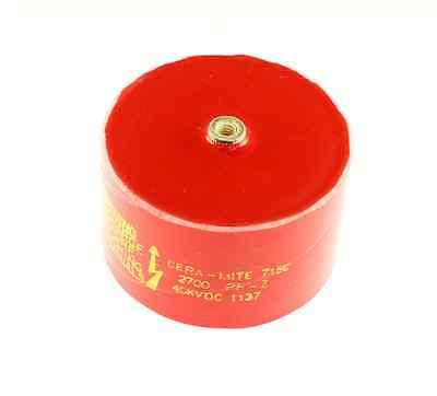 .0027uf 40000v Doorknob Hv Ceramic Transmitting Capacitor Dc 40dkd27 40kv 2700pf