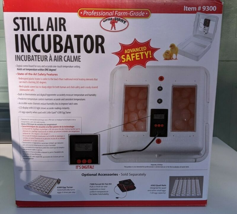 🪀 Little Giant 9300 Still Air Incubator Used