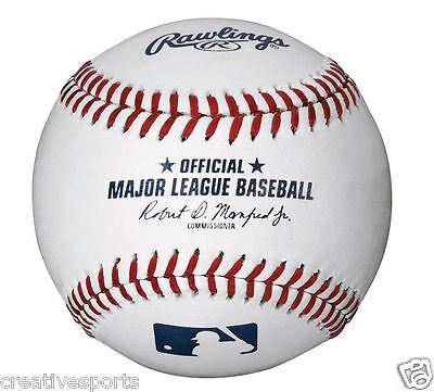 1/2 DOZEN MLB RAWLINGS OFFICIAL LEATHER MAJOR LEAGUE BASEBALLS - MANFRED