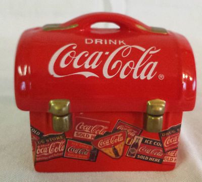 Coca-Cola Lunch Box Collectible Salt & Pepper Shakers Coke