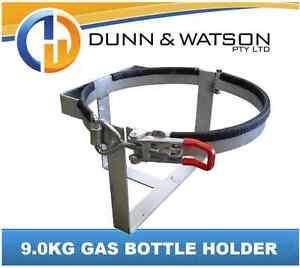 Lockable 9.0kg Gas Bottle Holder Galvanised - Camper Trailer, Caravan, 4x4