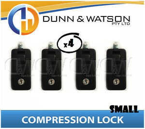 Small Black Compression Lock / Handle / Latch (Pop Omega Trailer Canopy ) x4