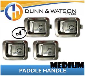 Medium-Paddle-Handle-Lock-Latch-x4-Camper-Trailer-Caravan-Toolbox-Motorhome