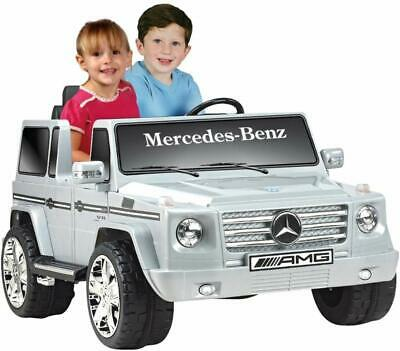Kid Motorz 12V Mercedes Benz G55 Two-Seater , Silver