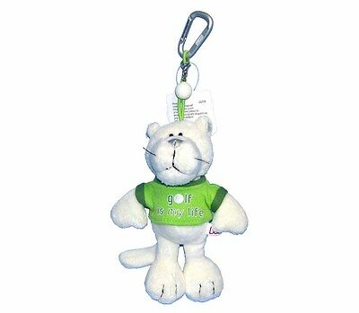 NICI Sport D-ring 3D Golf is my Life Plush Panther Animal Key chain Green Shirt - Live Animal Keychain