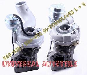 AUDI A4 RS4 380PS 280KW Bi-Turbo Lader 2x Link + Recht K04 5304988025 5304988026
