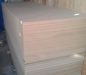 25 Pieces of New EGGAR Commercial Grade 6mm MDF 9ft x 39in (2744mm x 1000mm)