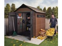Keter Fusion 759 plastic shed ( new )