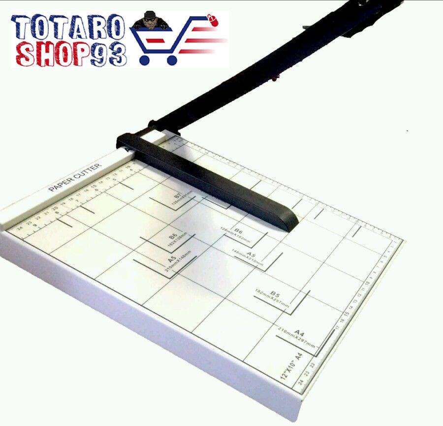 TAGLIA CARTA CUTTER PROFESSIONALE fogli A4 A5 ghigliottina metallo TAGLIERINA