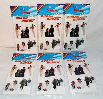 Six (6) packs of DURAN DURAN PUFFY STICKERS - mint sealed