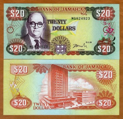 Jamaica, $20, 1999, P-72g, UNC > Colorful